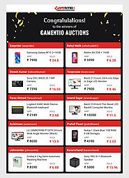 Top 10 Auctions on Gamentio - The most popular platform to learn and play popular card games in India - gamentio