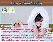 How to Stop Snoring | Top Home Remedies