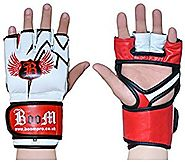 BooM Pro Pure Cow Hide Leather MMA Gloves, Boxing Bag, UFC Mixed Martial Arts