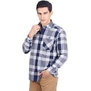 John Players Checkered Casual Long Sleeve Shirts for Men