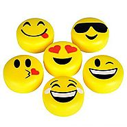 Emoji Lip Gloss For Kids - Six (6) Pieces Feature Emoticon Themed Lip Balms with Six Unique Designs - Great For Gifts...