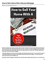 Reverse Mortgage and Home Selling