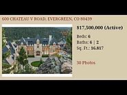 Homes For Sale Evergreen Colorado