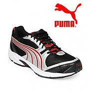 Puma Aquil Ind Black & Cobalt red Running Shoes for Men