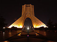 Panorama with Tehran Azadi Tower