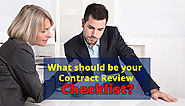 What should be your Legal Contract Review Checklist?