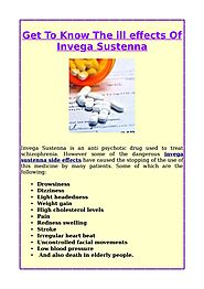 Get To Know The ill effects Of Invega Sustenna