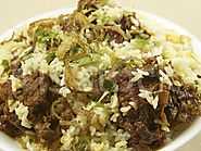 mutton biriyani kerala style with onion raitha
