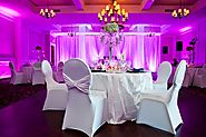 Ceiling Draping With Twinkle Lights
