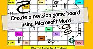 Make a Snakes and Ladders educational board game using Microsoft Word