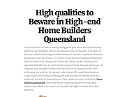 Discover best qualities for your new home with home builders queensland
