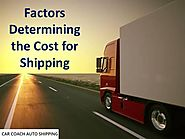 Factors Determining the Cost for Shipping