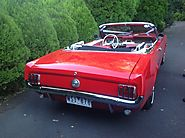 1966 Red Convertible Mustang Classic Car Hire Melbourne