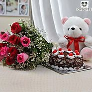 Make it more loving with Flowers, Cakes and Teddy