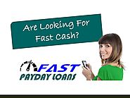 Fast Payday Loans - Achieve Cash Support During The Urgency Time - PdfSR.com