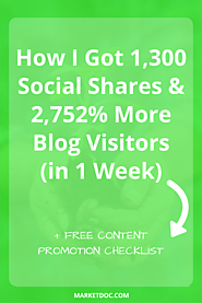 How to Promote Your Blog to Attract 1,300 Social Shares & 2,752% More Referral Traffic – MarketDoc