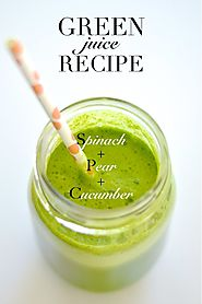 Green Juice Recipe // Spinach, Pear, and Cucumber