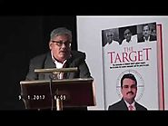 Shantanu Guha Ray's's Speech on The Target Book Launch