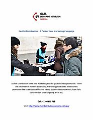 Leaflet Distribution - A Part of Your Marketing Campaign