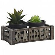Set of 2 Planters with Garden Tray