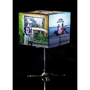 Personalised Photo Cube Lamp with Stand