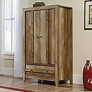 Sauder Dakota Pass Armoire in Craftsman Oak