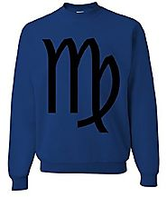 Mysterious Virgo Astrology Symbol Crewneck Sweatshirt To Show Off Your Virgo Powers. Are You Freezing? Grab This For ...
