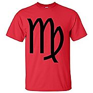 Shocking Red Virgo Astrology Symbol Harnessing Your Virgo Powers T-Shirt