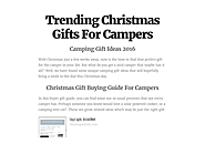 Trending Christmas Gifts For Campers