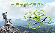 Wicked UDI 818A HD+ RC Quadcopter Drone with HD Camera, Return Home Function and Headless Mode - 2.4GHz 4 CH 6 Axis G...