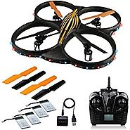 Awesome AKASO K88 Quadcopter 2.4GHz 4 CH 6 Axis Gyro RC Drone HD Camera Bundle with Battery and Charger