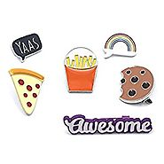 Onnea Enamel Brooch Pin Set Cute Brooches Patches for Clothes/Bags/Backpacks/Jackets
