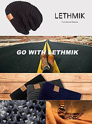 LETHMIK Functional Slouchy Beanie Unisex Skully Hat Warm Infinity Scarf in 3 Colors