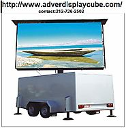 mobile Vehicle Advertising and Trailers services provide by adverdisplaycube.