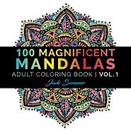 100 Magnificent Mandalas Coloring Book by Jade Summer
