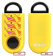 Authentic Vigilant Personal Alarm - Emergency Rape / Attack Prevention SOS Alarm With Rip Cord Sound Activation and R...