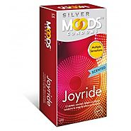 Moods Silver Joyride Dotted Condoms (Pack of 12 Pcs Condoms)