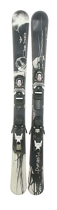Used 09 Dynastar Team Trouble Twin Tip Kid's Snow Skis with Team 4 Binding A
