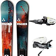 2015 Fischer Stunner Jr Twin Tip Skis with rail bindings