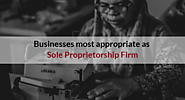 Which businesses are best suitable for Sole Proprietorship?