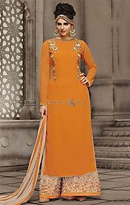 Embellished Designer Punjabi Suit Boutiques Style For Smart And Slim Look