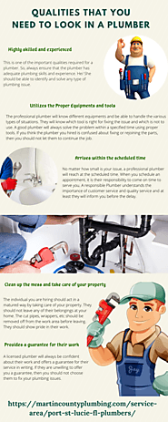 Qualities that you need to look in a plumber