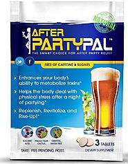 AfterPartyPal - Natural Hangover Relief & Hangover Prevention ● 5-PACK Hangover Pills Detox Kit ● Enhance your body's...