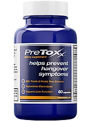 PreToxx for Hangovers - Natural Liver Support Supplement - With Prickly Pear, Milk Thistle, Cysteine & Electrolyte Bl...