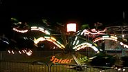 Spider Carnival Ride at Night