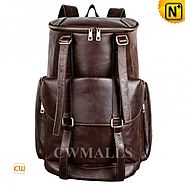 CWMALLS® Men's Leather Bucket Backpack CW916007