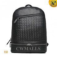 CWMALLS® Designer Woven Leather Backpack CW936230