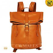 CWMALLS® Designer Leather Bucket Backpack CW906063