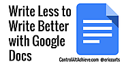 Have Students Write Better by Writing Less with Google Docs