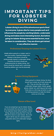 Important tips for Lobster Diving